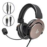 Tronsmart SONO Auriculares Gaming PS4 Estéreo con Micrófono Plegable para PC PSP Xbox One,Cascos...