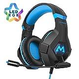 Mpow EG9 Auriculares Gaming PS4 RGB,Sonido Envolvente, Auriculares con Micrófono, Cancelación de...