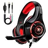 Auriculares Gaming Premium Stereo con Microfono para PS4 PC Xbox One, Cascos Gaming con Bass...