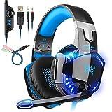 Auriculares Gaming con microfono, Cascos Gaming, Auriculares para Juegos para PS4 / PC/Xbox...