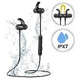 Mpow Auriculares Bluetooth 5.0, S10 IPX7 Deportivos Inalámbrico Magnético In Ear Estéreo CVC 6.0...